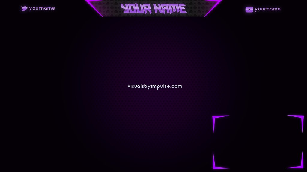 Visuals By Impulse On Twitter Quot Purple Twitch Overlay Easy