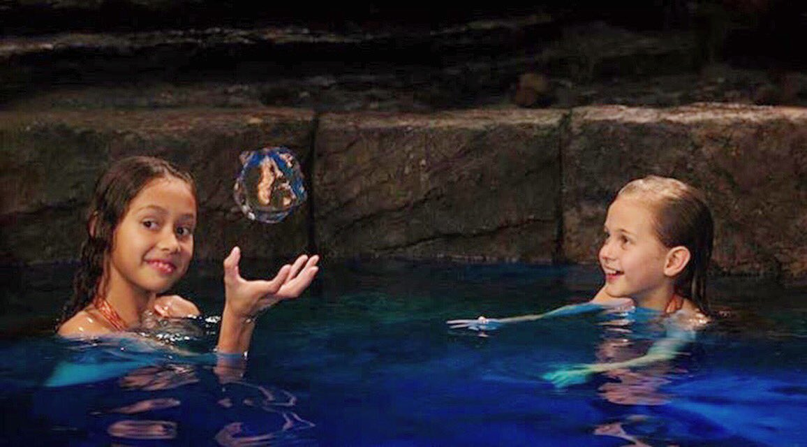 "Dunk Island Moon Pool: Mako Mermaids On Twitter: ""Naia And Ava In The Moonpool"