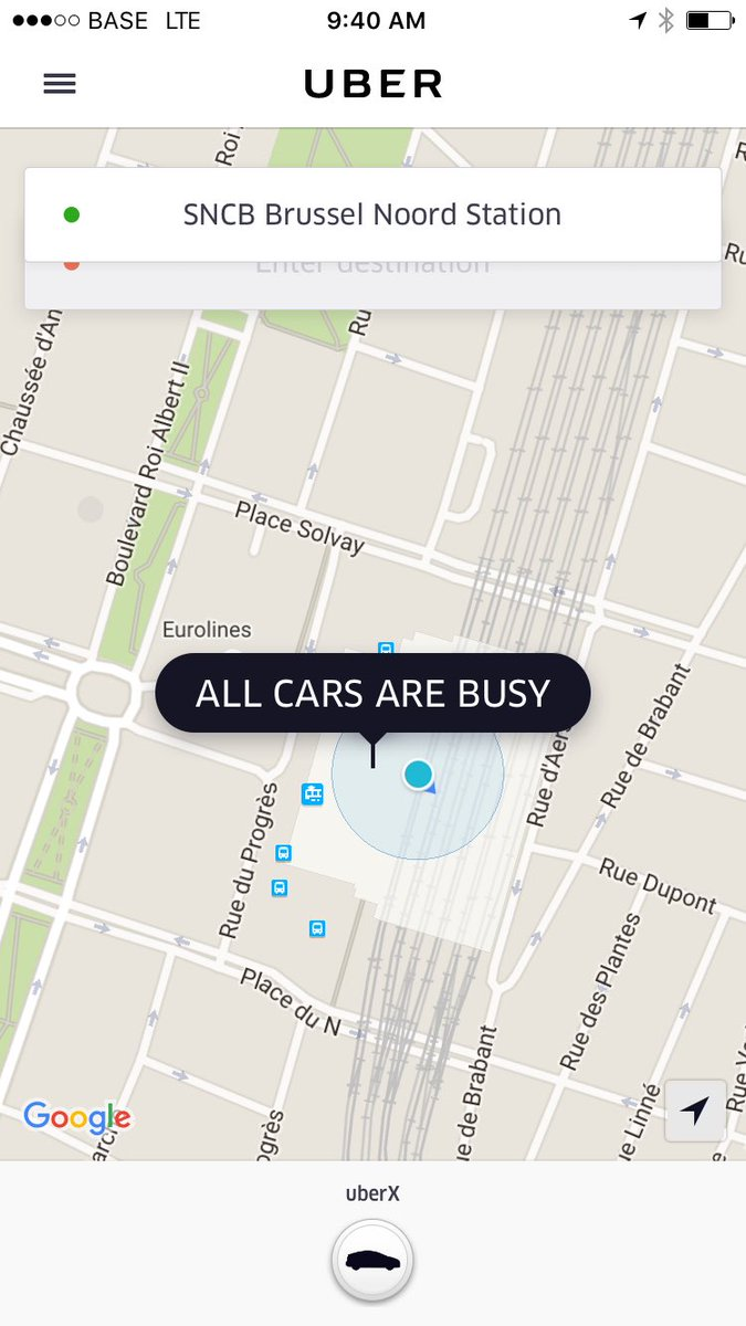 All @uber cars busy in #Brussels as terrorist bombs hit #brussels airport and subway stations https://t.co/dk7Z7a69DP