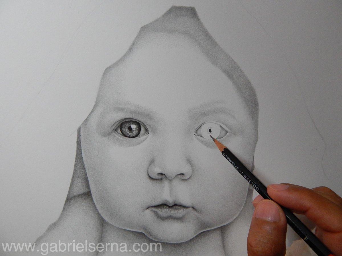 Gabriel Serna on Twitter Retrato de Bebe  Dibujo a Lpiz por