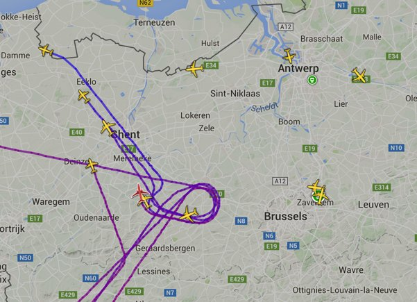 Flights diverting away from Brussels now. https://t.co/rD0IuNtt0t
