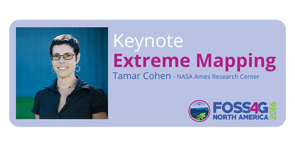 Keynote speaker @tamarmalade will talk about Extreme Mapping at #foss4gna. Check it out! https://t.co/HQJog4wVXx https://t.co/JI3y5S2I35