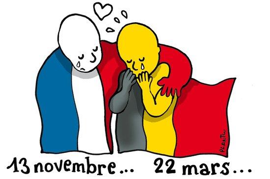 #Bruxelles L'hommage de Plantu  https://t.co/sBBY9mGViE