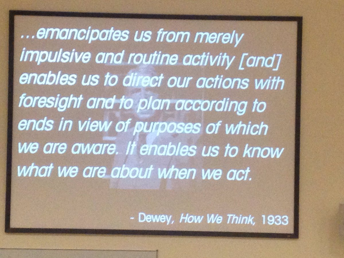 #lilac16 John Dewey made the distinction betw routine action & reflective actio.... https://t.co/3roIvT2GyF https://t.co/RP9hTkSSML