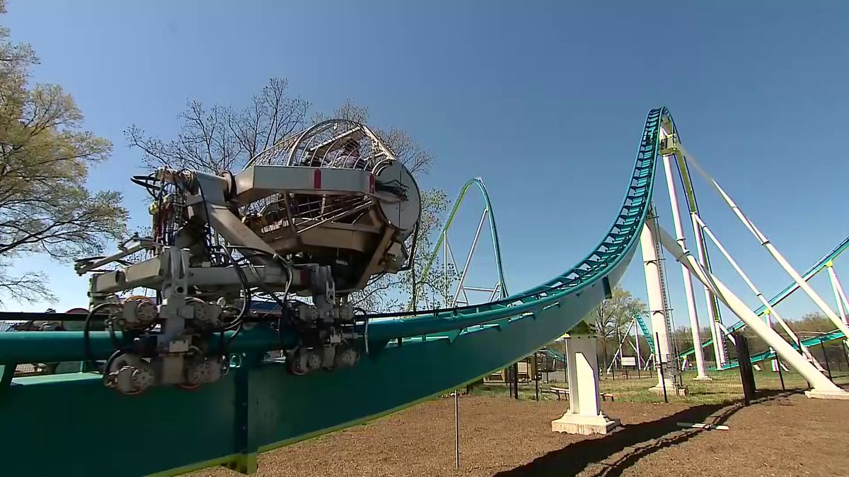 Maintenance Ball On Fury 325 Video In Comments Rollercoasters