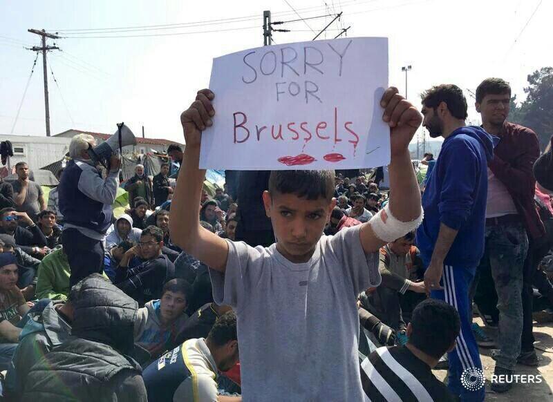 No al acuerdo UE-Turquía sobre refugiados. Por una Europa de las personas.  CeJvEIDXEAAXt84