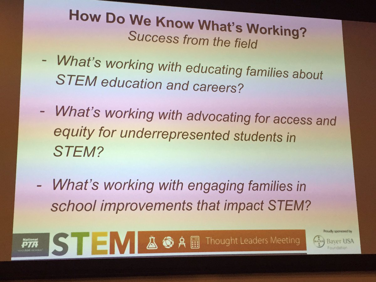 Let us know your successes engaging families in STEM. Share links/insights. @NationalPTA @reneelajackson #PTA4STEM https://t.co/rZsC3CVij9