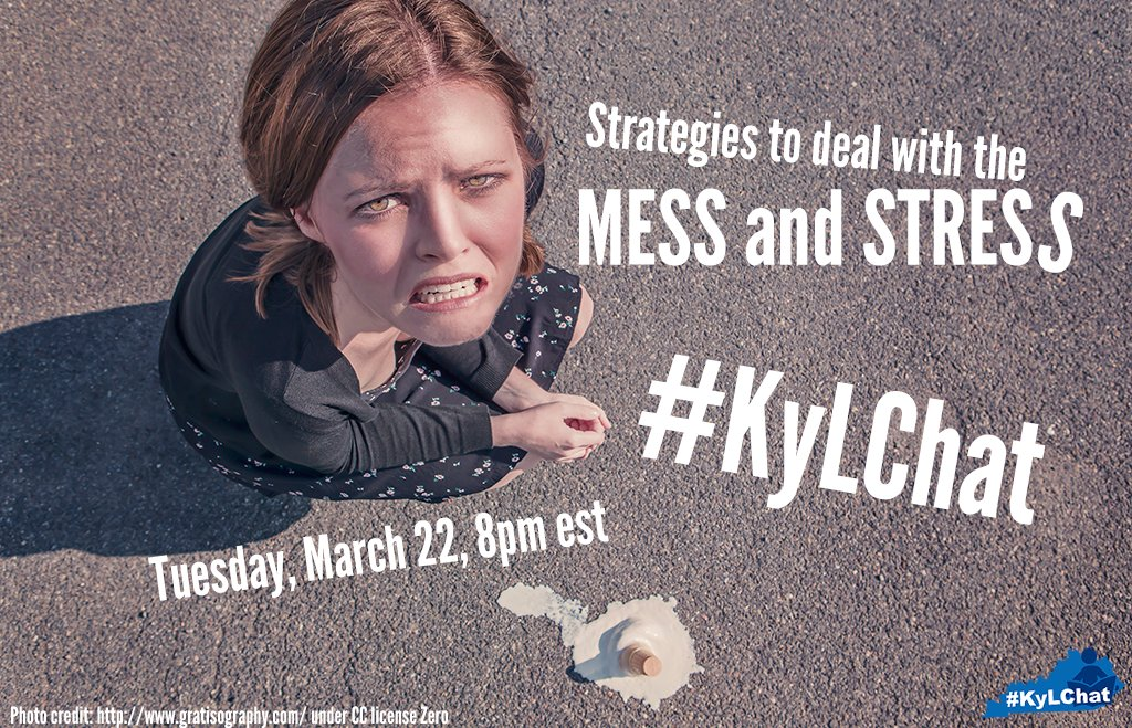 Join us tonight for #KyLChat Strategies to manage the mess & #TLChat #TXLChat #KyEdChat @heidinelt @HCHSLibrarian https://t.co/jMpyjXKkZF