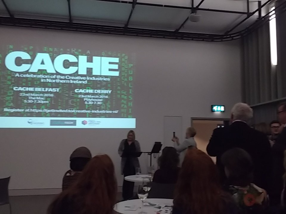 Claire McGee kick's off the night at #cache  looks like it is going to be an excellent evening. https://t.co/J2JPTwfolP