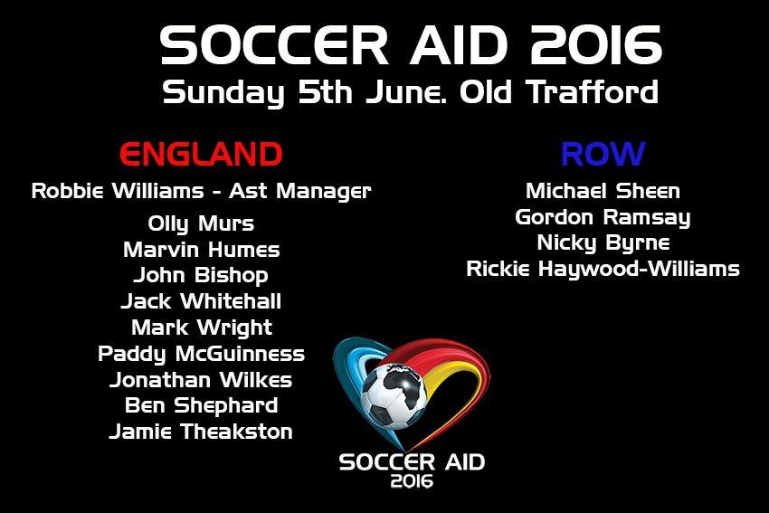 Nicky participará en Soccer Aid 2016 CeKE6gHW0AAmhKi