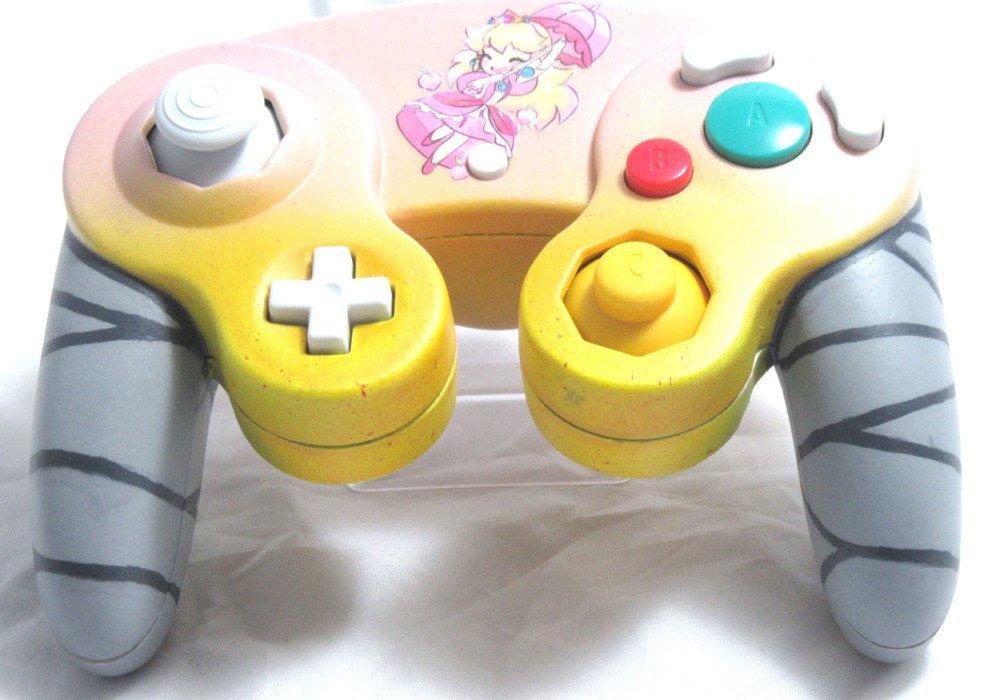 design out of shield on twitter kawaii peach new custom gamecube