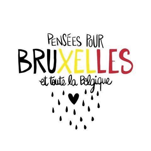 Grosse pensée pour nos amis belges. Je vous aime fort ! #Bruxelles #ensemble