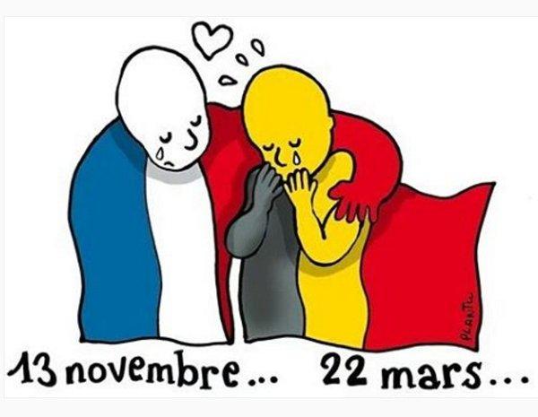 #PrayForBrussels Unidos a todo el mundo para mostrar nuestro apoyo a los familiares de las victimas. https://t.co/vCPeDLOwYJ