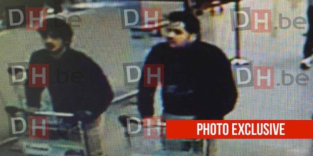 Фотографии подозреваемых во взрывах в Бельгии.