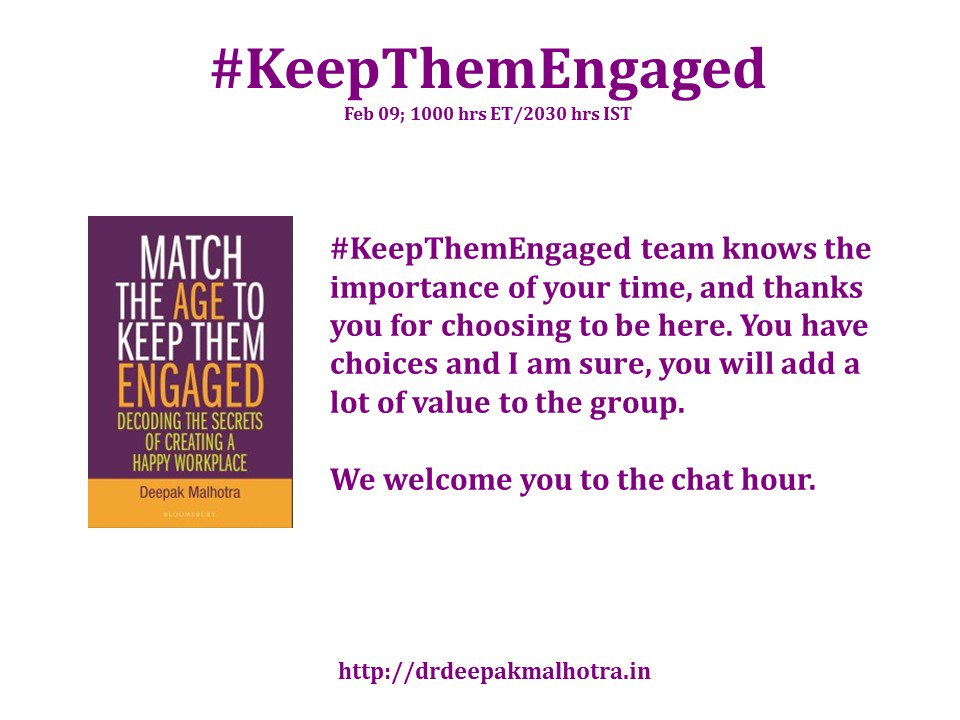 #KeepThemEngaged Understands your time is precious and we welcome you all here. https://t.co/IE6XqnwKoM