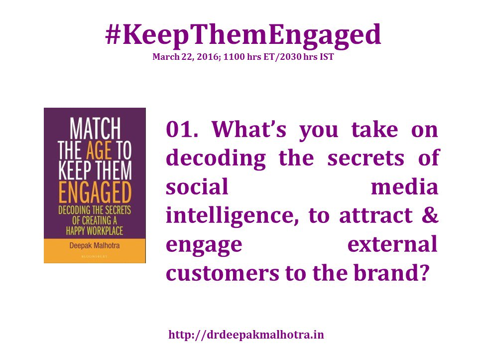 #KeepThemEngaged lets go to our guest and ask them the first question. @LisaMasiello @profplays Q1 coming up... https://t.co/nSEUeyB16F
