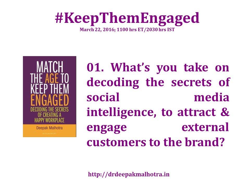 #KeepThemEngaged Q1 Please RT @LisaMasiello @profplays @hrsanjaynegi @methehr https://t.co/SLlVOSpGPr