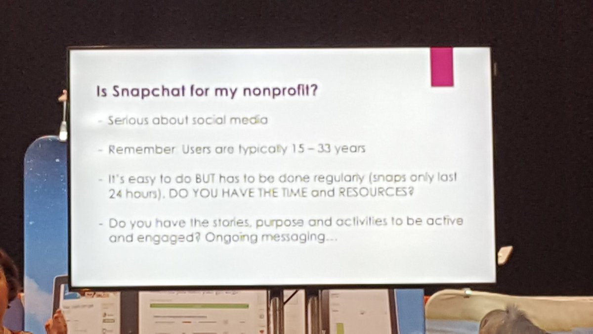 Does your organization use Shapchat?  #AFPFC #AdvNWBoston https://t.co/N0T5LNjgQR