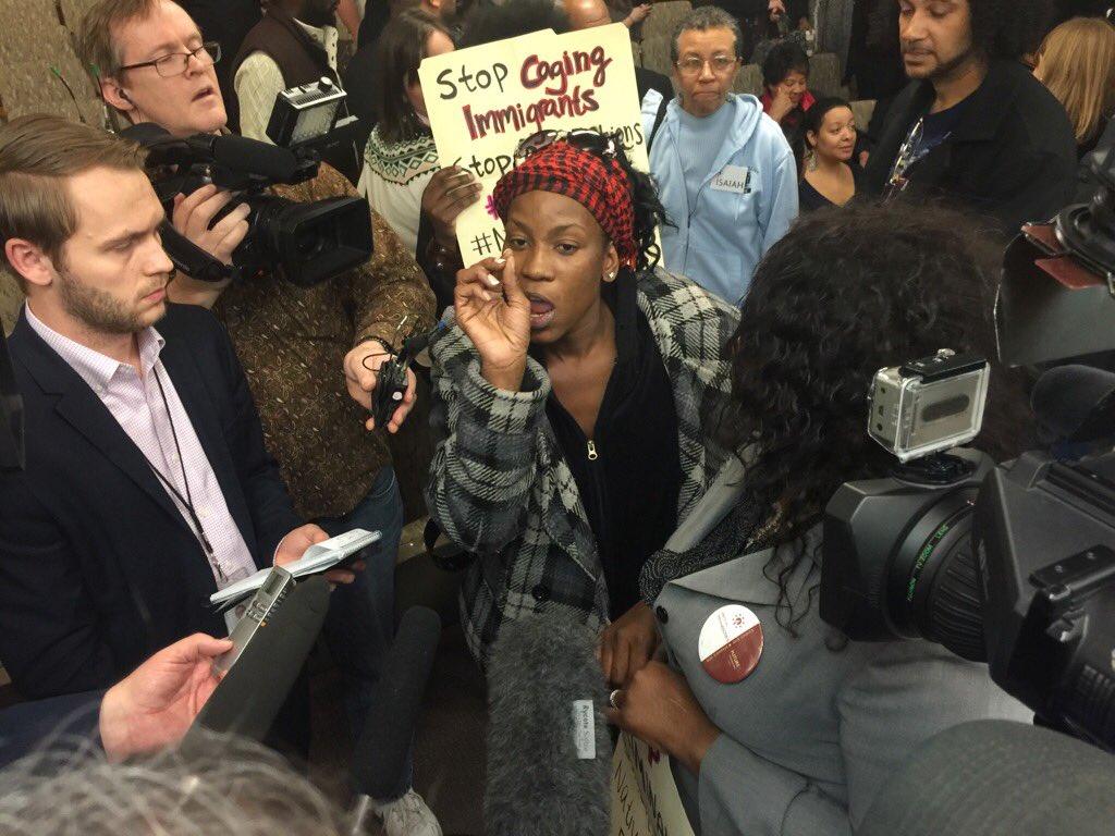 Thumbnail for Protestors Disrupt Prison Hearing