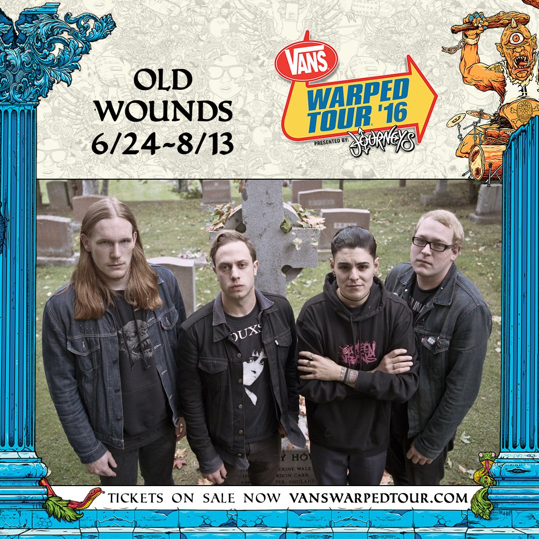 HEY! @oldwoundsnj is on the @VansWarpedTour! Check them out all summer on the @FullSail stage https://t.co/M3B1gDhNEy