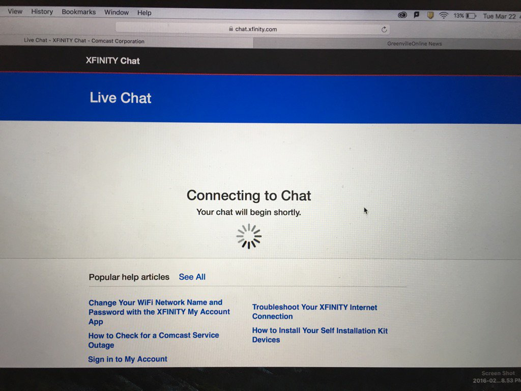 Comcast Help Chat | Examples and Forms