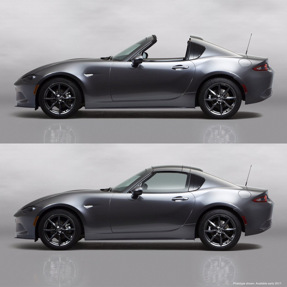 Introducing the Mazda #MX5 Miata RF. A retractable roof with fastback styling. #MX5RF #DrivingMatters https://t.co/bgEFhcxaAJ