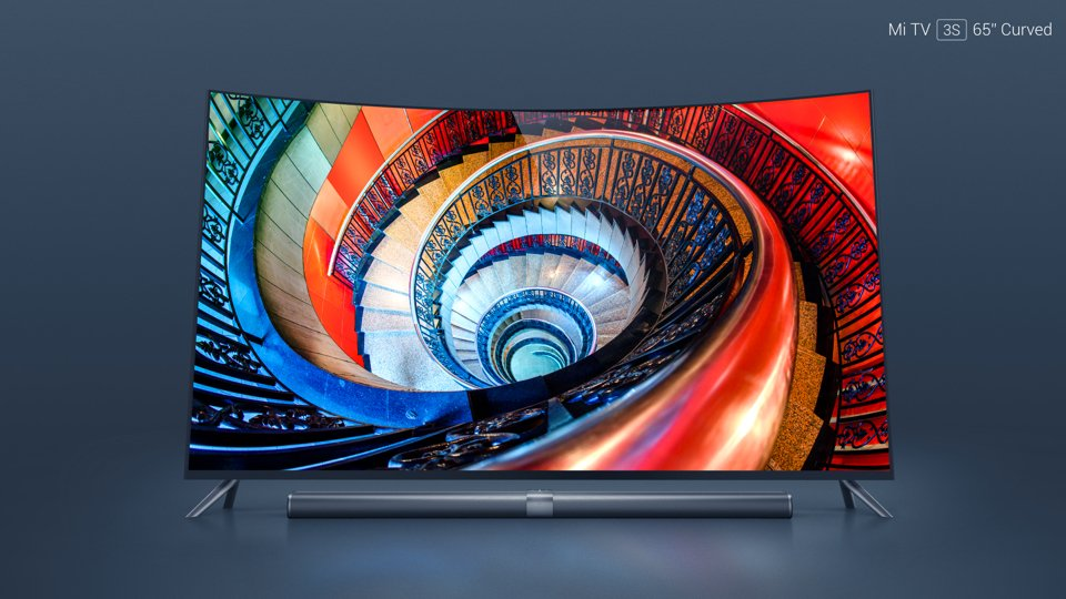 Xiaomi MI 3S -  65 Inch Curved Android TV