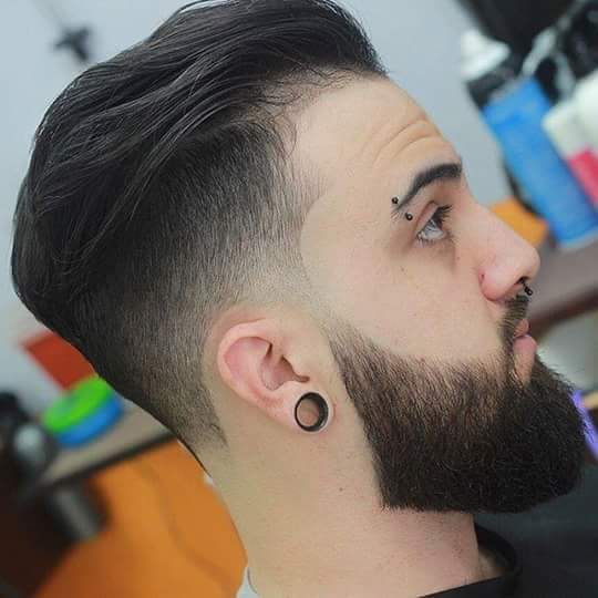 Line Up Slicked Back with Beard