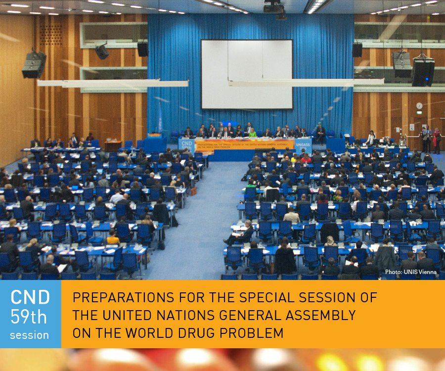 #CND2016 closes; countries agree on outcome document for adoption at #UNGASS2016 - https://t.co/zkx1tkx0NN https://t.co/5EAJNLaNYz
