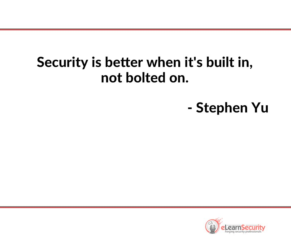ELearnSecurity On Twitter ITsecurity Quote Tco Cool Security Quotes