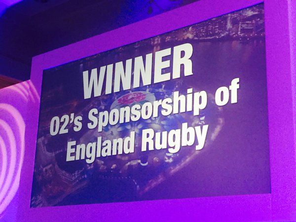 What a night! Congrats to @O2 who picked up four trophies for #WearTheRose at the #SponsAwards16!