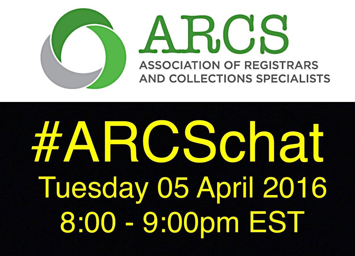 Thumbnail for #ARCSchat 05 April 2016 Tweeting as a Registrar