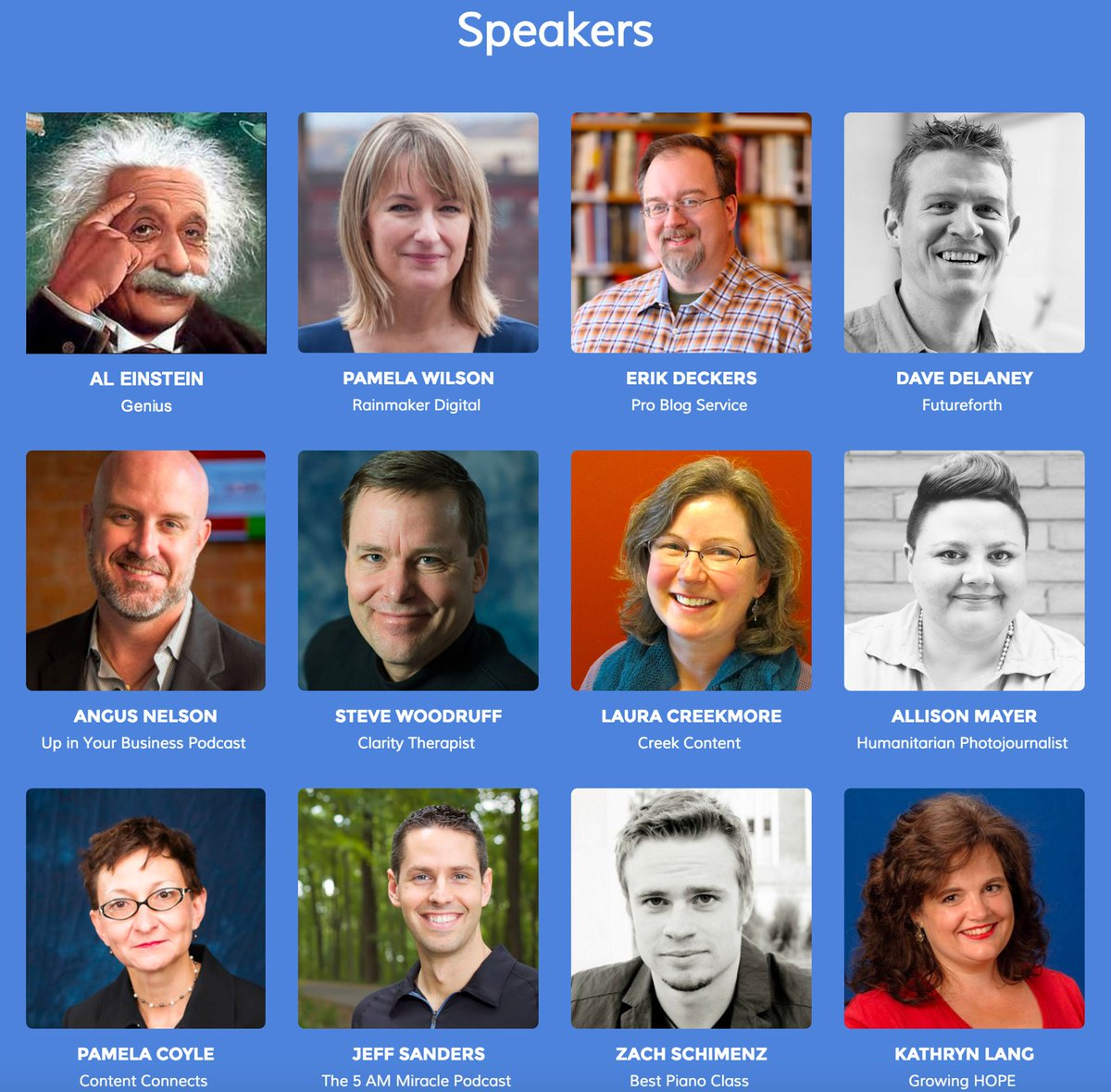 Will you be at @CraftContentNSH? Look at this genius lineup of speakers! #Nashville @AlbertEinstein https://t.co/tb53Ch4p2V