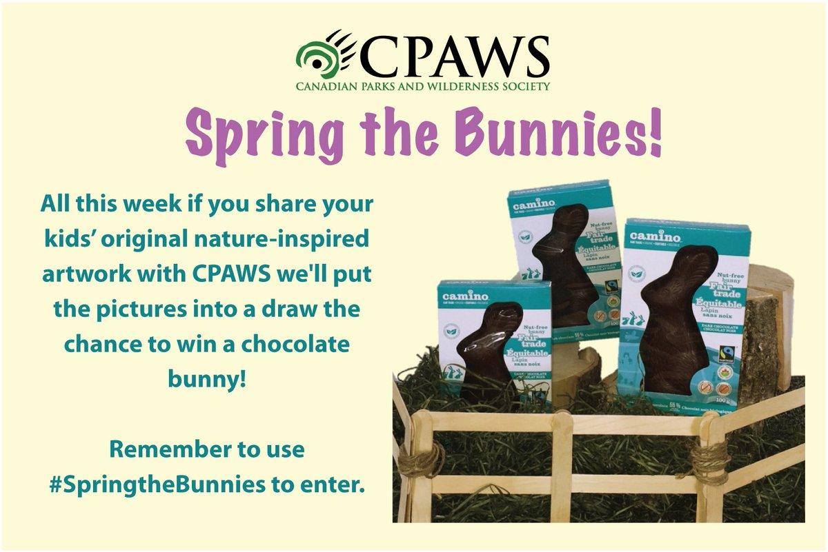 Hey #Canada, help us #SpringtheBunnies. Share your kids' nature-inspired art for the chance to win a choc-bunny! https://t.co/rWech8UCnJ