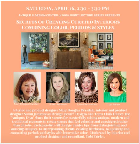 If you are going to #HPMKT don't miss this discussion! Me, @tobifairley @susanmaconjamieson @TheAntiquesDiva! https://t.co/bE3FD5nt4x