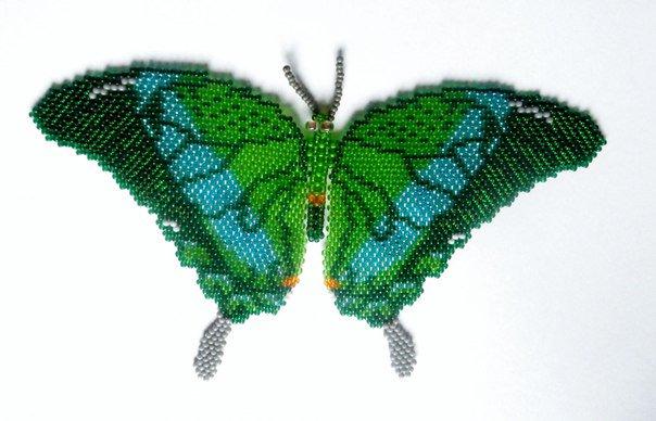Схема плетение из бисера заколка