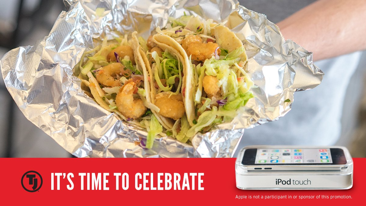 Street Tacos are back. So eat up. Then jam out. One more day to RT for your chance to win an iPod.