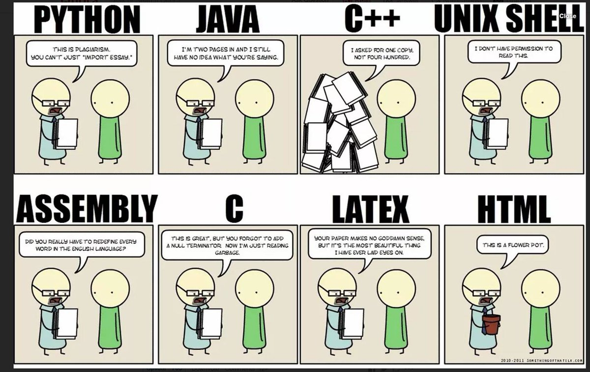 Comparing programming languages. HT @gracielagon #java #python #coding https://t.co/FAyMPs7Vmv