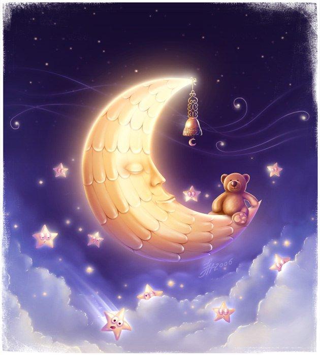 Рисунки картинки, открытки сладких снов малыш