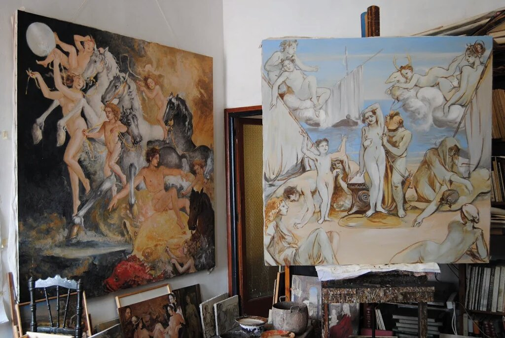 #quadres #illustration #artist #estudio  #moon #art #arte #pintura tremp d&#39;ou #pintor #Blanes la #Selva #painting<br>http://pic.twitter.com/r5Nh08TBcY