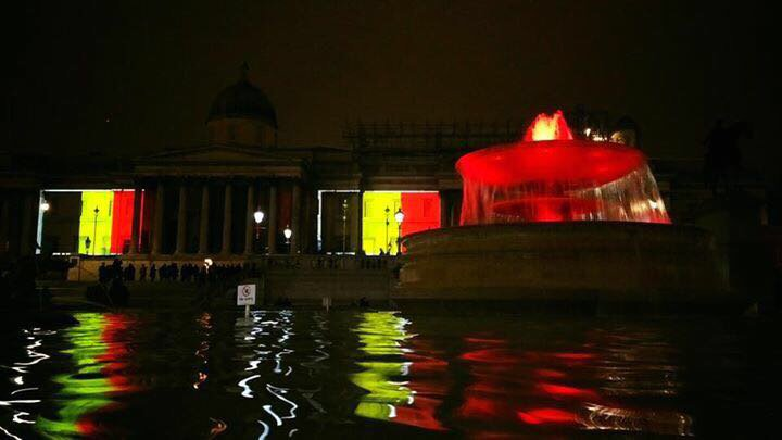 And lastly tonight these images from Trafalgar Square and the London Eye #JeSuisBruxelles https://t.co/3hnFGeWJzc