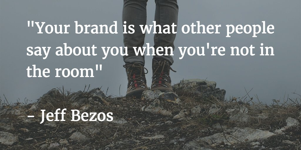 """Your brand is what other people say about you when you're not in the room"" - Jeff Bezos #16NTC #16NTCdesign https://t.co/vFEdqFGjum"
