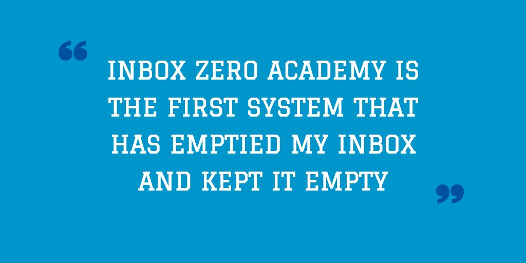 Stop wasting your life in email, starting with the Inbox Zero Academy (It's free!) https://t.co/0zIetS6xXo https://t.co/Om1X12Oqgs
