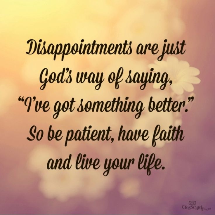 "Religious Quotes About Life Amazing Living With Faith On Twitter ""disappointments Are Just God's Way"