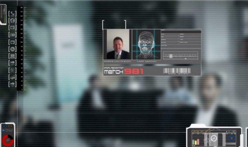 Imagen de un sistema de seguridad reconociendo caras (imagen de Twitter)