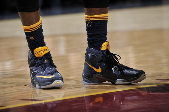 free shipping f1608 fcf5a ... coupon code for lebron james laced up another pe of the nike lebron 13  tonight vs