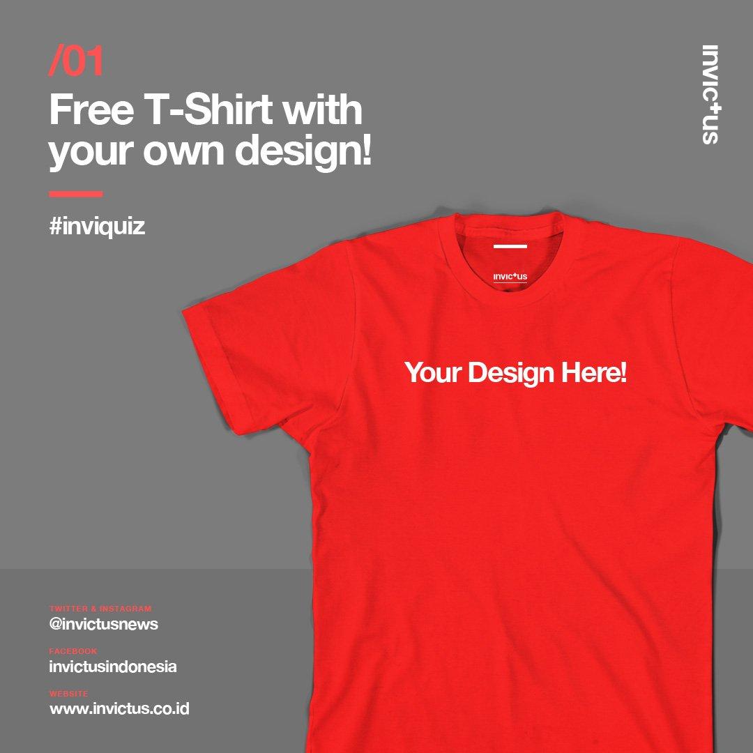 Mau T-Shirt gratis? RT dan Mention dgn max 6 kata yg mau kalian tulis di tshirt kalian, come on :) #inviquiz #quiz https://t.co/uqtpoDGvvn