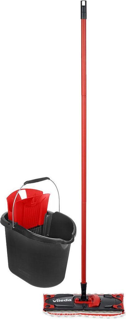 комплект для уборки vileda ultramat швабра и ведро с механизмом отжима