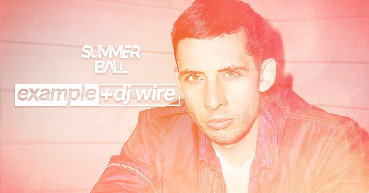 We're ecstatic to announce that EXAMPLE + DJ WIRE will headline the Summer Ball 2016! https://t.co/tKZOOl30AK https://t.co/pxbIx5EagY
