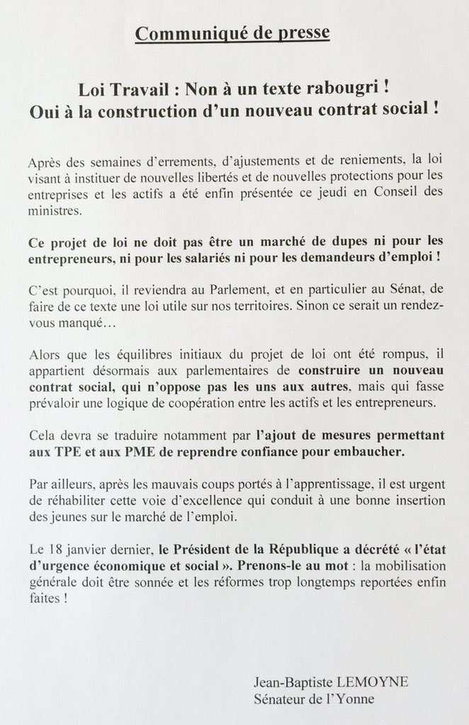 Jean Baptiste Lemoyne على تويتر Loi Travail Non A Un